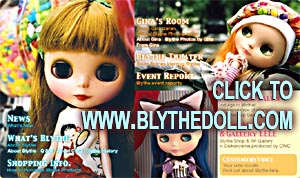 Photos of Blythe doll / Neo-Blythe dolls from CWC licensed fr. Hasbro CLICK TO PROVENANCE OF THE VINTAGE AND NEO-BLYTHE DOLL